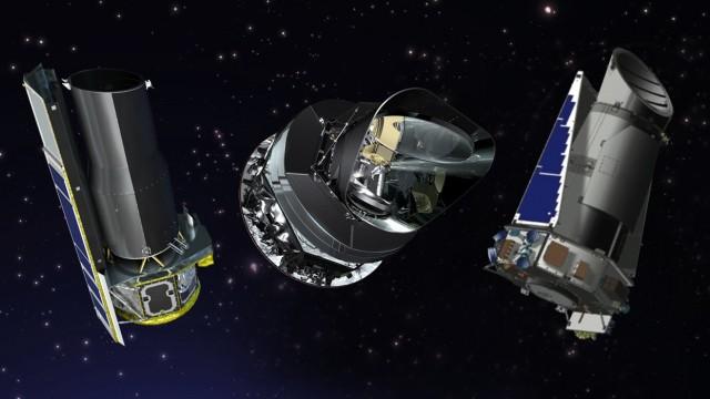 Spitzer, Kepler, Planck