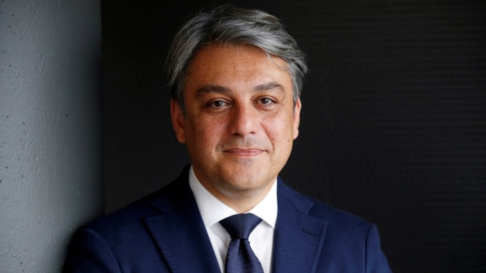 FILE PHOTO: SEAT President and CEO Luca de Meo poses during an interview at the SEAT car factory in Martorell