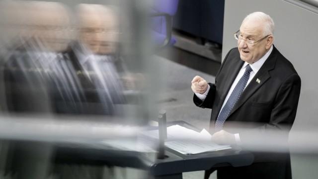 Reuven Rivlin 2020 beim Gedenken an die Opfer des Nationalsozialismus im Bundestag