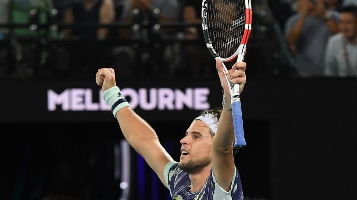 Australian Open 2020: Dominic Thiem nach seinem Sieg gegen Rafael Nadal