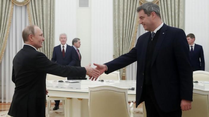 Ministerpräsident Söder in Moskau