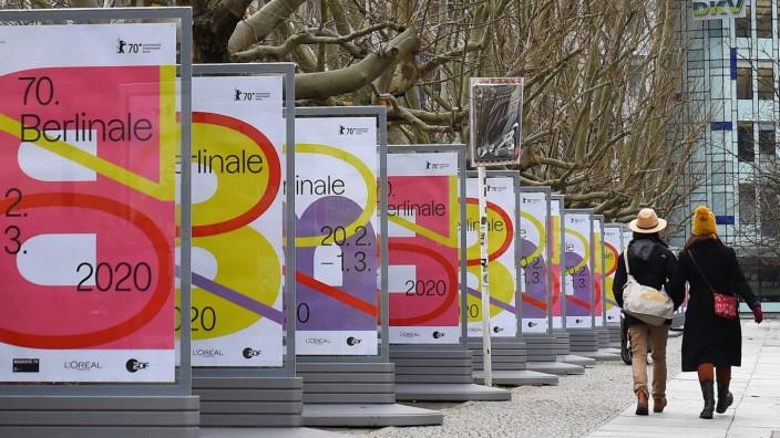 Werbetafeln für die Berlinale