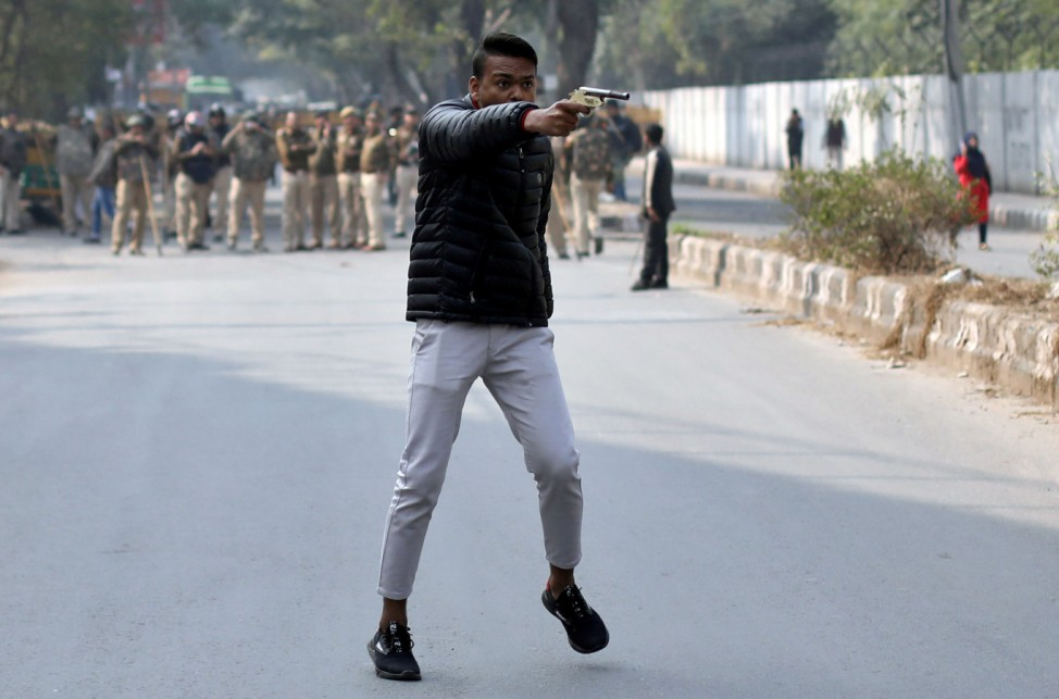 A Picture and its Story: A gunman shoots at New Delhi protesters