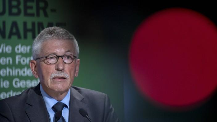 Thilo Sarrazin - Buchvorstellung Feindliche Uebernahme Deutschland, Germany, Berlin, 30.08.2018 Thilo Sarrazin, Author