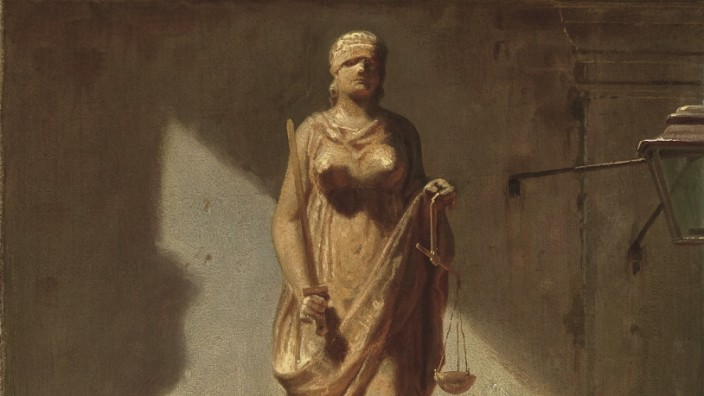 Carl Spitzweg, Justitia, 1857,