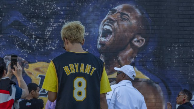 Fans Continue To Pay Respects To Kobe Bryant At Memorial Outside Of Staples Center