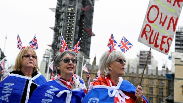 Britain leaves EU on Brexit day