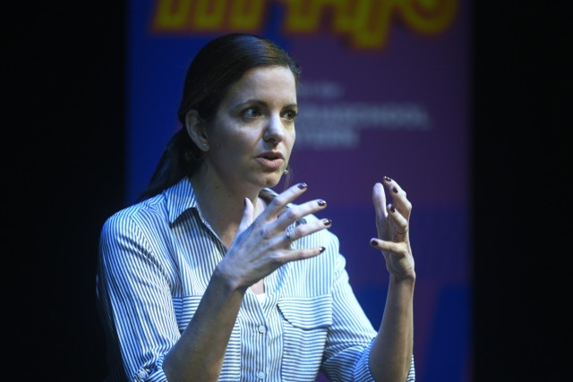 Kristina Frank bei der SZ-Podiumsdiskussion