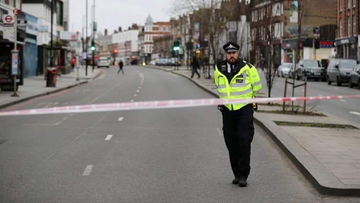 London: Absperrung nach einer Messerattacke in Streatham