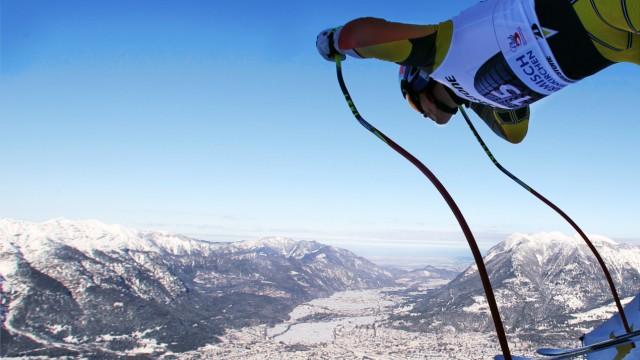Skiweltcup Garmisch - Abfahrtstraining Herren