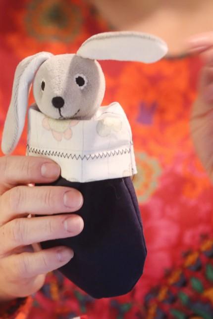 Stoffbeutel für verletzte Koalas