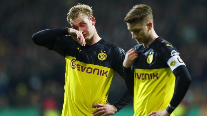 DFB-Pokal 2020: BVB-Spieler Brandt und Reus nach der Niederlage gegen Werder Bremen