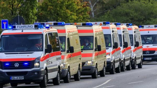 Rettungsübung mit der Medical Task Force 18 DEU/Brandenburg/ Cottbus: Â Bei einer Katastrophen- und Zivilschutzübung wur