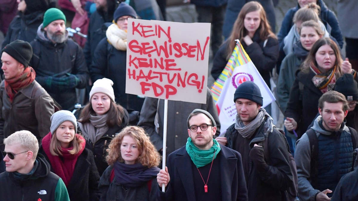 Thüringen: Wahl von Kemmerich (FDP) ist eine Schande