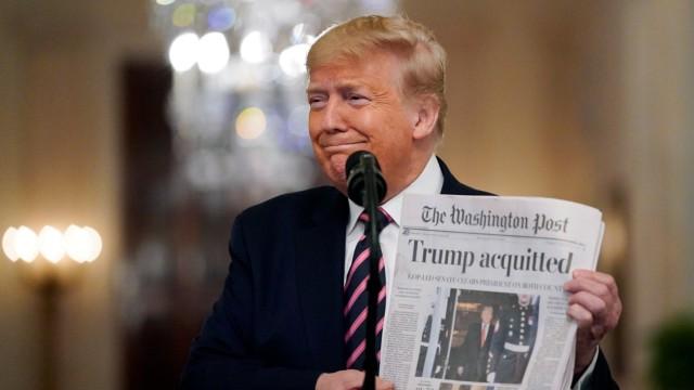 Impeachment: US-Präsident Trump nach dem Freispruch im Weißen Haus