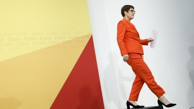 Annegret Kramp-Karrenbauer in Berlin 2020 nach ihrem Rücktritt als CDU-Chefin
