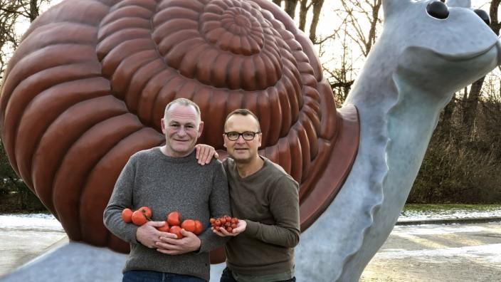 1. Tomaten Festival Schwanthalerhöhe Schneckenplatz Jochen Knauert und Siggi Fuchs