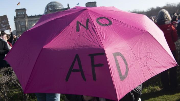 Demonstration gegen Rechts