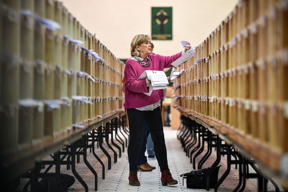 The Votes Are Counted In The Irish General Election