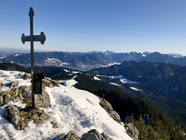 Fockenstein Winterwanderung  Winterwandern Bayern Alpen Schneeschuh Wandern Wanderung