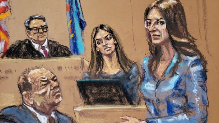 Talita Maia is questioned by defense lawyer Donna Rotunno during film producer Harvey Weinstein's sexual assault trial