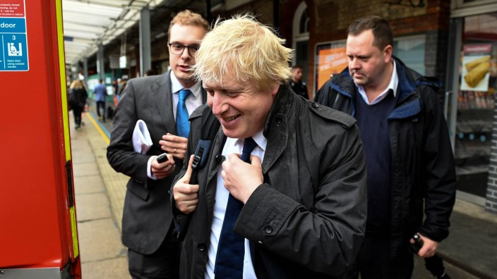 20 06 2016 London United Kingdom Boris Johnson Campaigning for Vote Leave The Former Mayor for