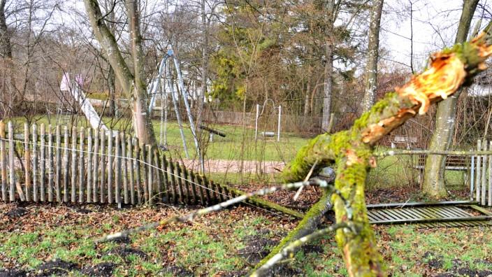 Starnberg: Falkenweg Spielplatz gesperrt