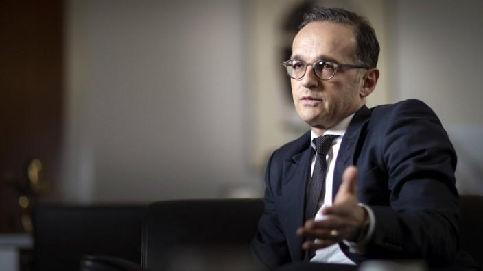 Interview mit Bundesaussenminister Heiko Maas SPD in seinem Buero im Auswaertigen Amt 15 03 2019