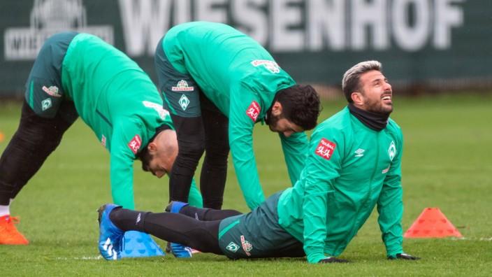 Werder Bremen: Claudio Pizarro beim Training