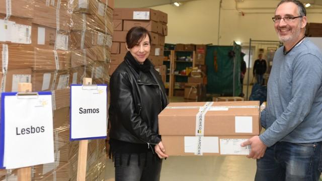 """Flüchtlingslager auf Samos: Tilman Haerdle und seine Frau Petra helfen mit ihrer Initiative """"Heimatstern"""" auch Geflüchteten in Griechenland."""