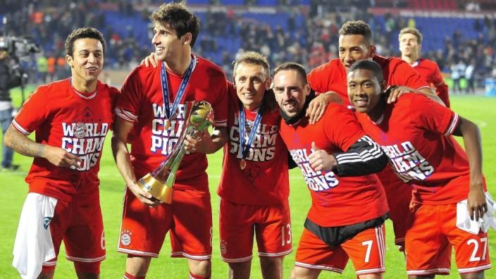 Dec. 21, 2013 - Marrakech, Marrocco - Thiago, Javi Martinez, Rafinha, Franck Ribery, Jerome Boateng, David Alaba  / FC
