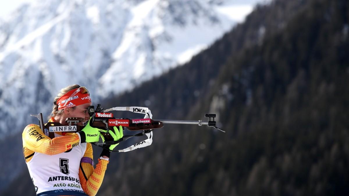 Denise Herrmann bei der Biathlon-WM: Millilmeter