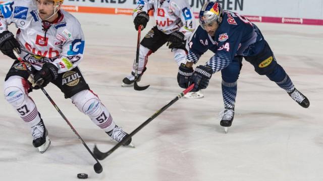 Eishockey, DEL, EHC Red Bull München - Pinguins Bremerhaven Im Bild Alexander FRIESEN (Pinguins Bremerhaven, 57) und Tre; Eishockey