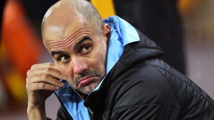 Manchester City: Trainer Pep Guardiola 2019 gegen Wolverhampton