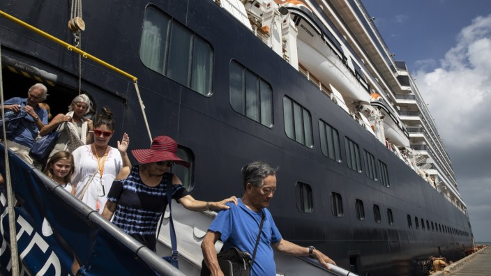 Cambodia Allows Cruise Ship Free of Coronavirus to Dock.
