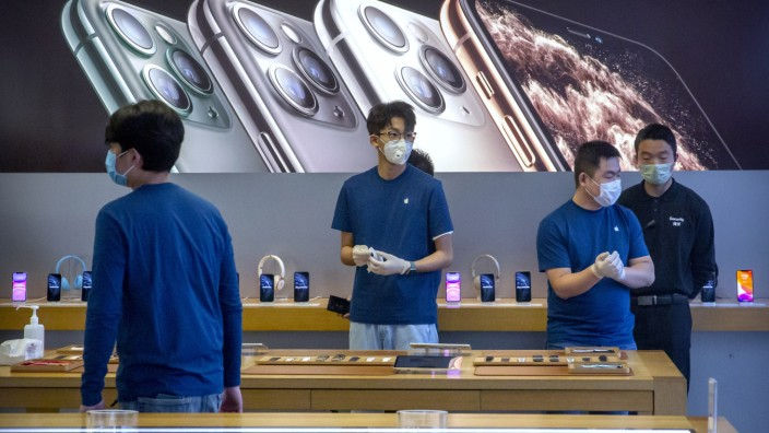 Lieferengpässe bei iPhones - Coronavirus schadet Apples Geschäft