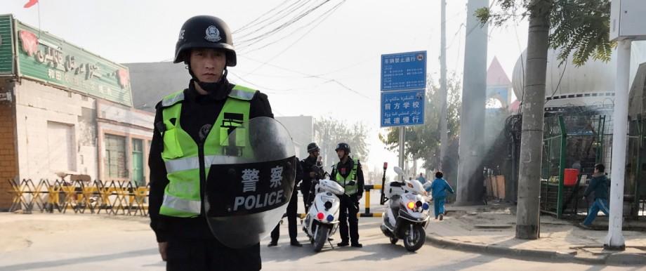 China: Polizisten in Xinjiang