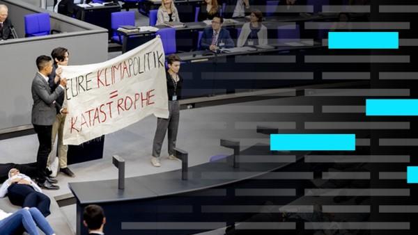Bundestagsprotokolle Teaser Storytelling Klimawandel