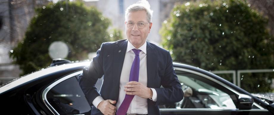 Norbert Roettgen, CDU, aufgenommen vor einer Pressekonferenz, anlaesslich der Kandidatur fuer den CDU-Vorsitz in der Bun