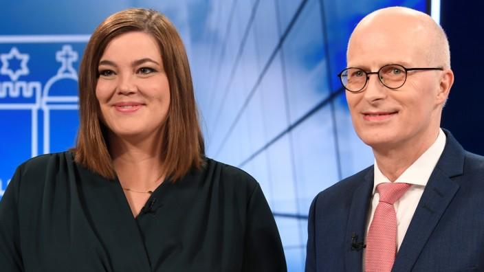 Wahl in Hamburg 2020: Peter Tschentscher (SPD) und Katharina Fegebank (Grüne)