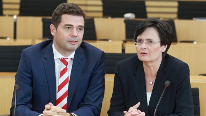 6. Thüringer Landtag. Mike Mohring ( CDU / Vorsitzender Landtagsfraktion ) und Christine Lieberknecht ( CDU / Ministerp