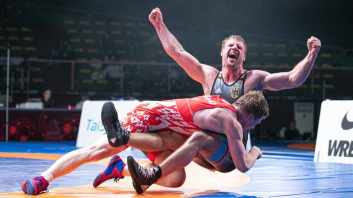 Sport Bilder des Tages Wrestling European Championship, EM, Europameisterschaft Greco-Roman Wrestling - 82kg Hannes WAG