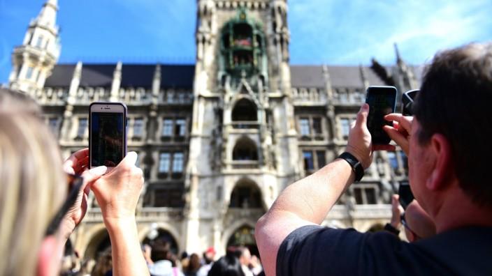 Touristen in München, 2019