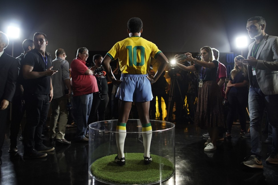 Statue von Pele in Rio de Janeiro