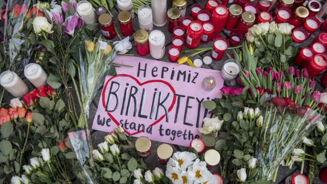 Mourners Gather In Hanau For Shooting Victims