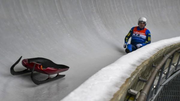 VIESMANN Rennrodel-Weltcup Men Winterberg / 22.02.2020, Veltins-EisArena Winterberg, VIESMANN Rennrodel-Weltcup Men Win; Andriy