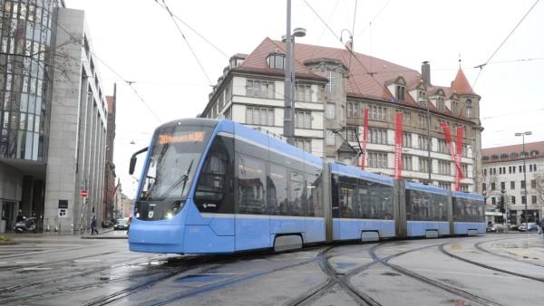 Trambahnkreuzung in München, 2020