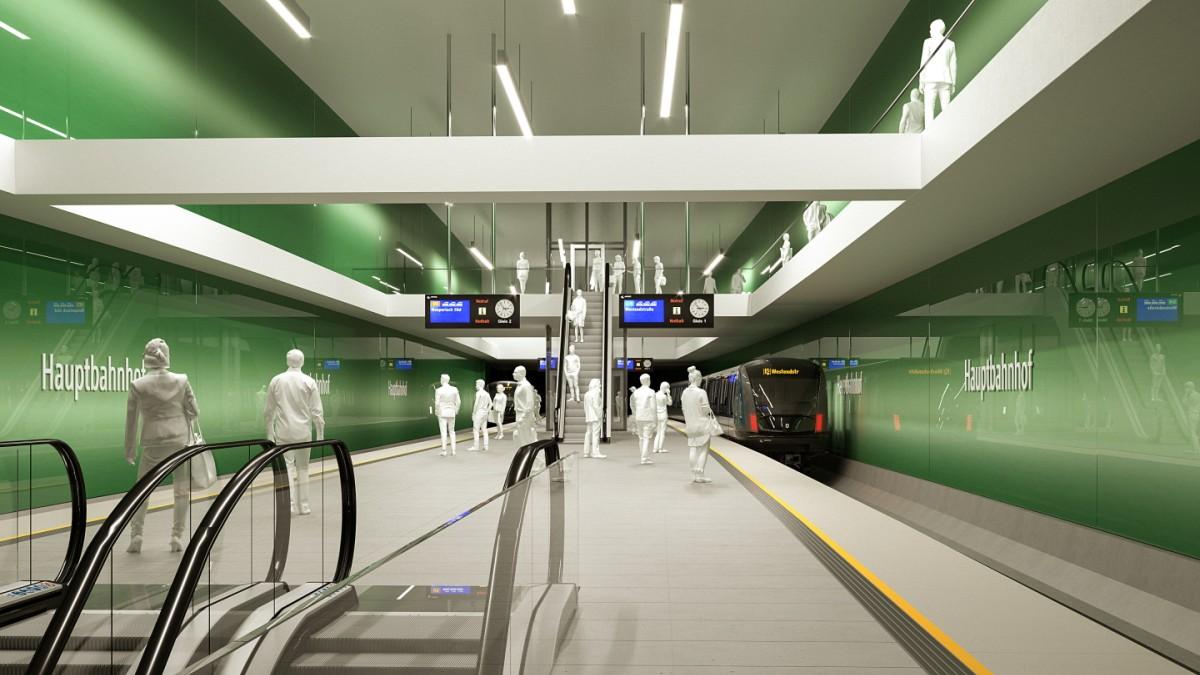 U-Bahn: Mehr Platz zum Umsteigen am Hauptbahnhof