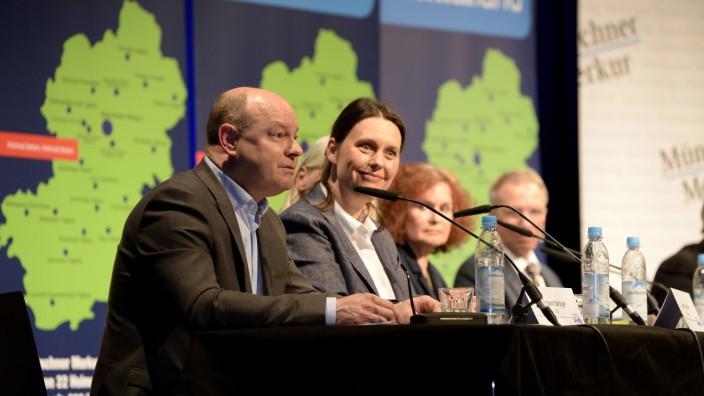 Kommunalwahl in Planegg: CSU-Kandidat Hermann Nafziger (v. l.), Judith Grimme (Grüne) und die anderen Bewerber.