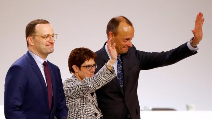 FILE PHOTO: Christian Democratic Union party congress in Hamburg